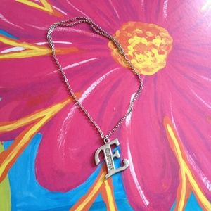 Jewelry - E, A,C,N,M,O,I,S,Silver Tone Letter Charm Necklace